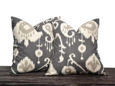 Grey Ikat Pillow by 18 Charcoal Grey Ikat Pillow Set Set Of 18 By