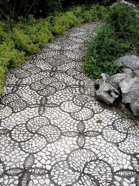 Pebble Garden by 15 Magical Pebble Paths That Flow Like Rivers Bored Panda