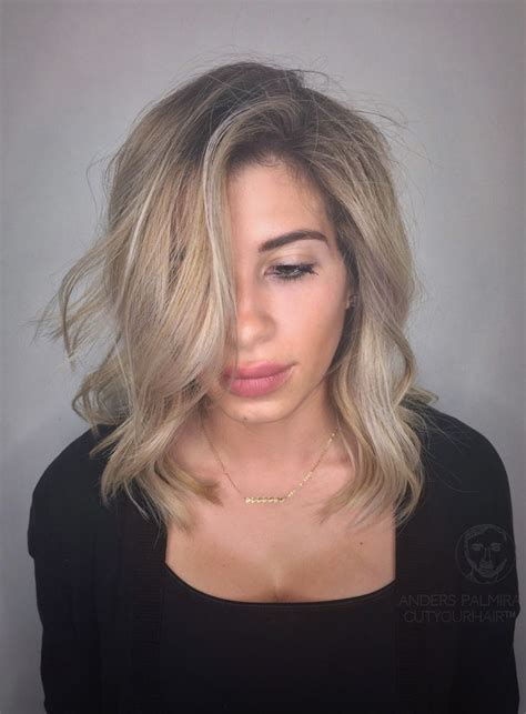 short aline beachy tutorial aveda wavy long blonde bob short hair beach wave medium