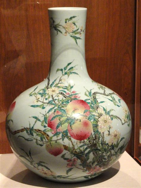 Classic Home Decoration file vase with nine peach design chinese indianapolis