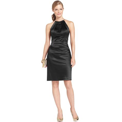 Elisa Black eliza j sleeveless necklace halter dress in black lyst