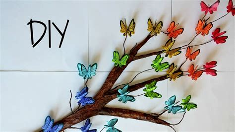 How To Preserve Tree Branches For Decoration by Diy Tree Branch 3d Butterflies Room Decor