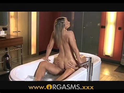 Orgasms Sexy Blonde Has Sex In Bathroom Xnxx Com