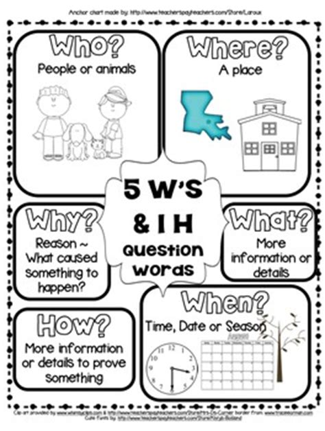 learn how to ask the 5 w s h e questions the rl ri 2 1 5ws and h question words anchor by laroux