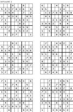 sudoku printable a4 1000 id 233 es sur sudoku sur pinterest jardin d enfants