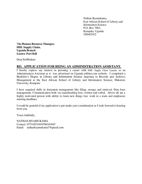 application letter administration assistant 1
