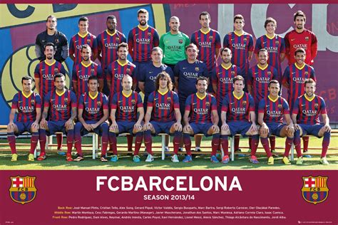 Barcelona Home 13 14 fc barcelona team photo 13 14 poster sold at europosters