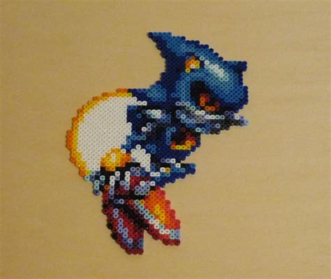 Kaos Dhet Metl Ar metal sonic bead sprite by monochrome gs on deviantart