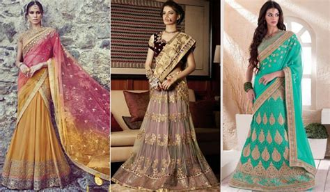 new saree draping styles how to drape lehenga saree gorgeous lehenga saree draping