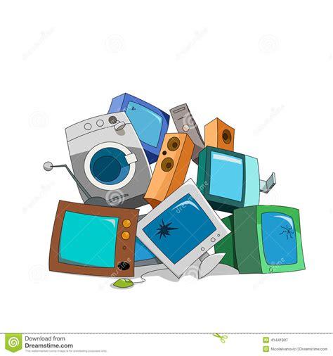 broken electronics stock vector illustration  computer