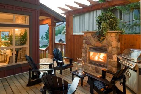 Outdoor Fireplace On Wood Deck by Wood Decks Outdoor Fireplaces Wooden Decks