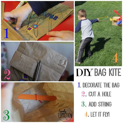 How To Make A Paper Bag Kite - lunch sack kite