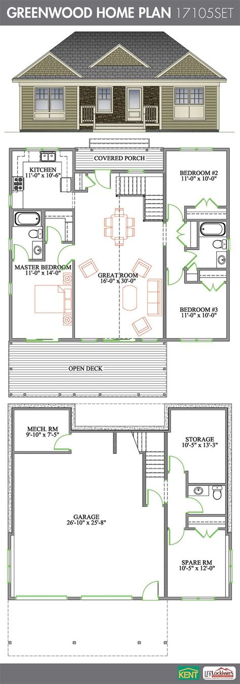 home plans with vaulted ceilings garage mud room 1500 sq ft greenwood 4 bedroom 2 1 2 bathroom home plan features