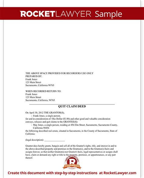 letter template quit claim quit claim deed form free template with sle letter
