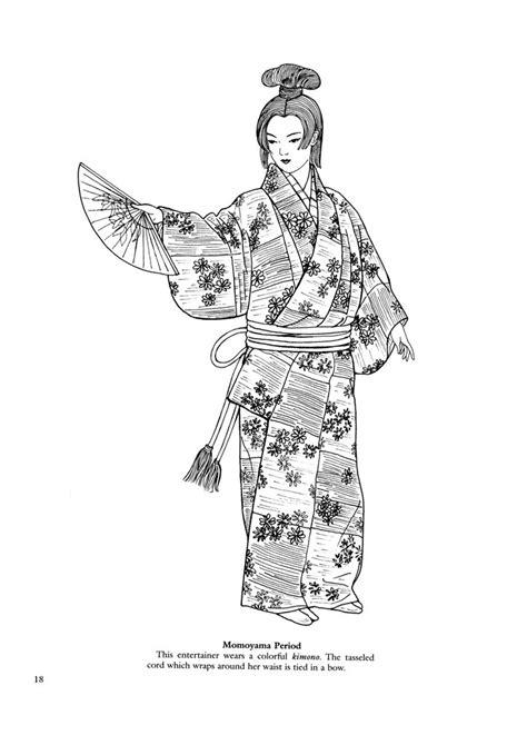 japanese kimono coloring page japanese kimono designs coloring book sketch coloring page