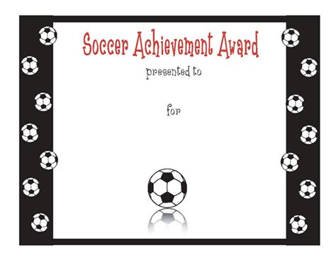 soccer certificate templates for word soccer achievement award certificate