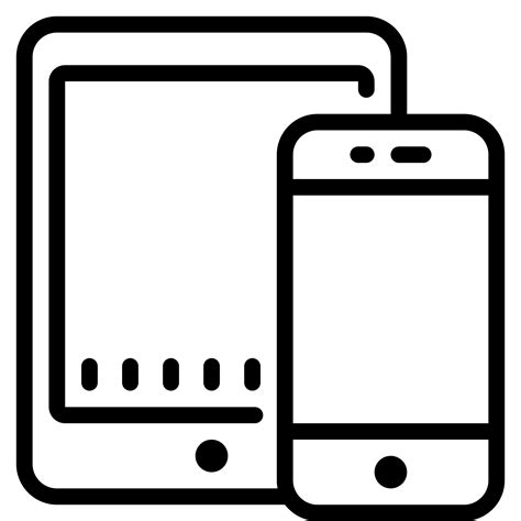 mobile tablet phone smartphone tablet icon free at icons8