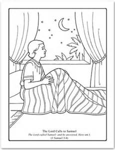 A Year Of Fhe 2012 Wk 09 The Lord Calls Samuel Samuel Coloring Pages From The Bible