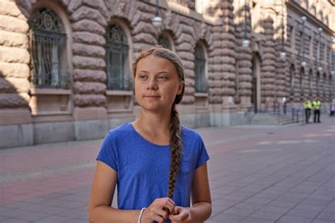 famous young swedish climate activist  spread