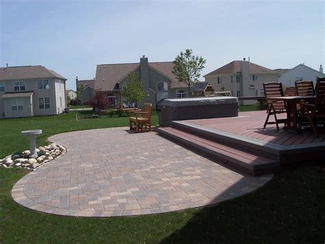 Composite Patio Pavers Outdoor Kitchens Columbus Decks Porches And Patios By Archadeck Of Columbus