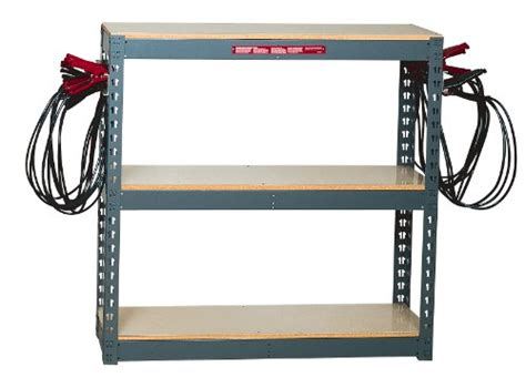 Battery Rack by Associated Equipment 6086 Battery Rack With 10 Pair Leads