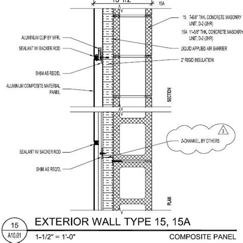 exterior wall section detail p