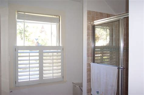 shutters bathroom window cafe style shutters traditional bathroom boston by