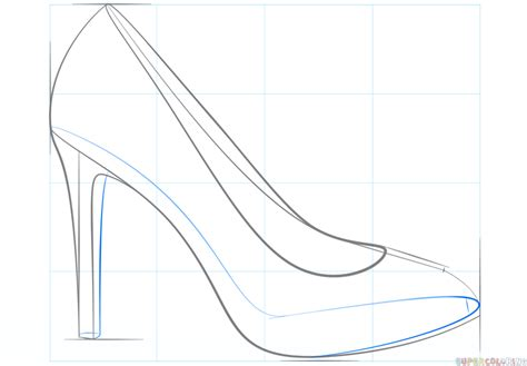 how to draw a shoe step by step for how to draw a high heel shoe step by step drawing tutorials