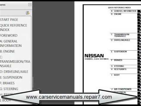 nissan urvan 2002 2006 e25 service manual and repair