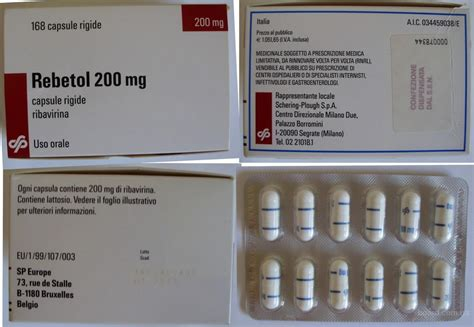 Rebetol Ribavirin 200 Mg Anti Hepatitis Pictures For White Capsule Shape Pill Imprint Logo Rebetol