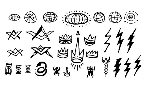 civil drawing symbols gallery symbol and sign ideas 500 occult symbols and esoteric designs vector collection