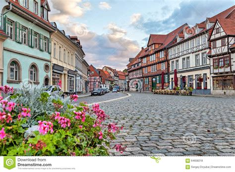 house in german traditional german houses in quedlinburg stock photo image 64658218