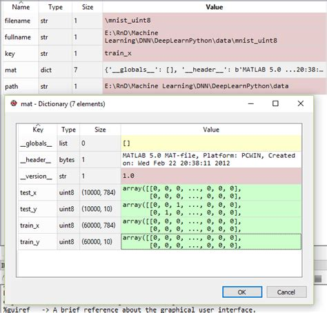 Mat File Extension by Matlab Showing Type And Size Of A Mat File Loaded In