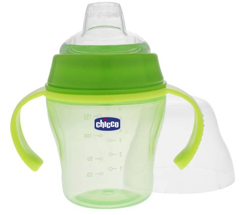 Chicco Baby Soft Spout Sippy Trainer Cup 6m Gelas Minum Bayi 40 feeding cups bowls utensils chicco soft cup 6m