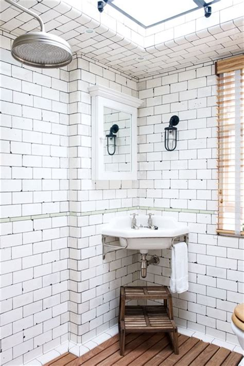 Bathroom Ideas Photo Gallery Small Spaces by Keith Mcnally S Vintage White Industrial Tiles Bathroom