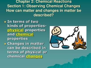 section 1 2 chemistry and matter ppt chapter 16 macroscopic description of matter