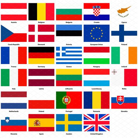 flags of the world european union all flags of the european union icons creative market