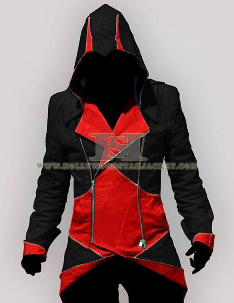 Jaket Hoodie Assassins Cred Wisata Fhasion Shop assassin creed 3 and black leather hoodie jacket