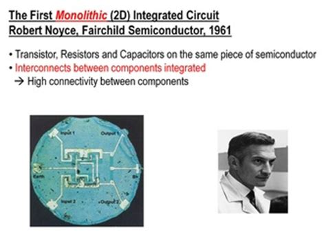 who invented the integrated circuit kilby bob noyce and the 3d integrated circuit monolithic 3d inc the next generation 3d