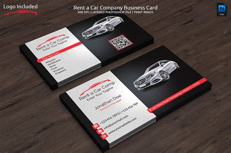 free automotive card template rent a car business card business card templates
