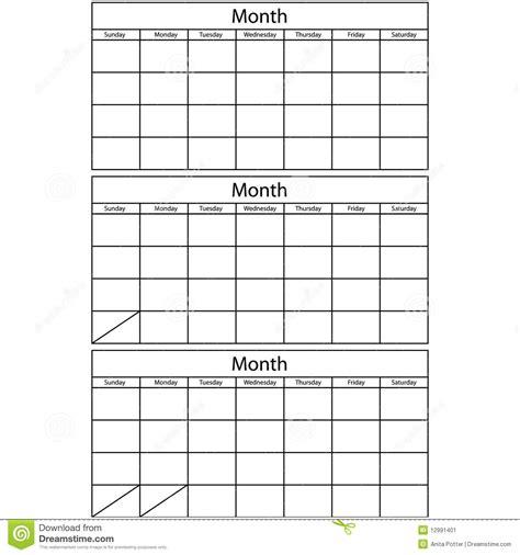 blank 3 month calendar template calendar template