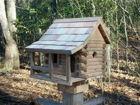 2 Room Log Cabin Birdhouse By William Bentley Jr Cabin Birdhouse Plans
