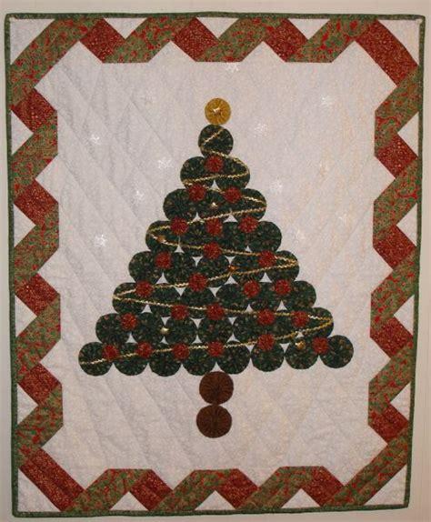 yo yo christmas tree quilting pinterest