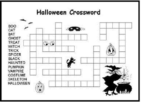 printable children s halloween activities printable halloween crossword for kids color halloween