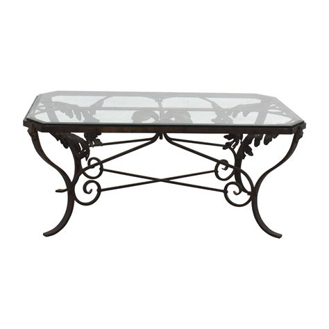 metal glass coffee table 90 glass and metal leaf scroll coffee table tables