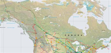 map of pipelines in alberta canada and alaska pipelines map crude petroleum