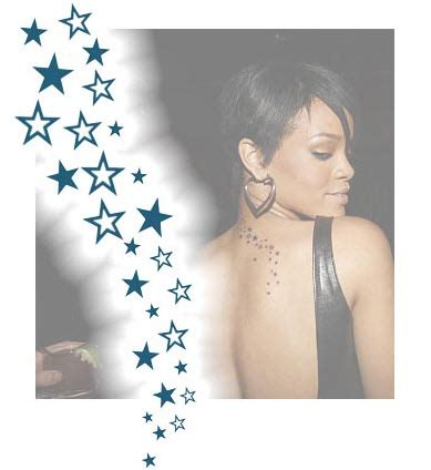 rihanna star tattoo top 20 tattoos temporary
