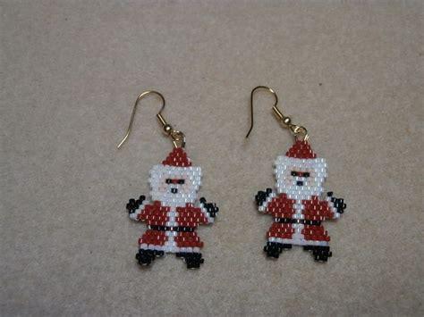 pattern for beaded christmas earrings 1211 best beading christmas images on pinterest beading