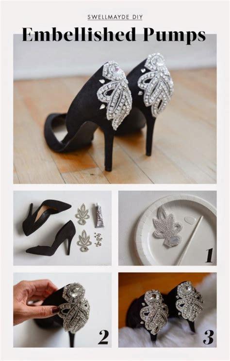 diy decorar tus zapatos con cuentas lindas ideas diy para decorar el tac 243 n de tus zapatos