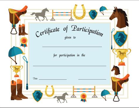 printable gift certificates with horses horse c certificate template choice image certificate